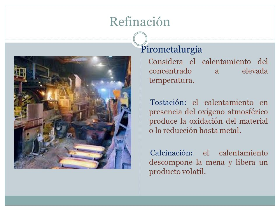 Refinación Pirometalurgia