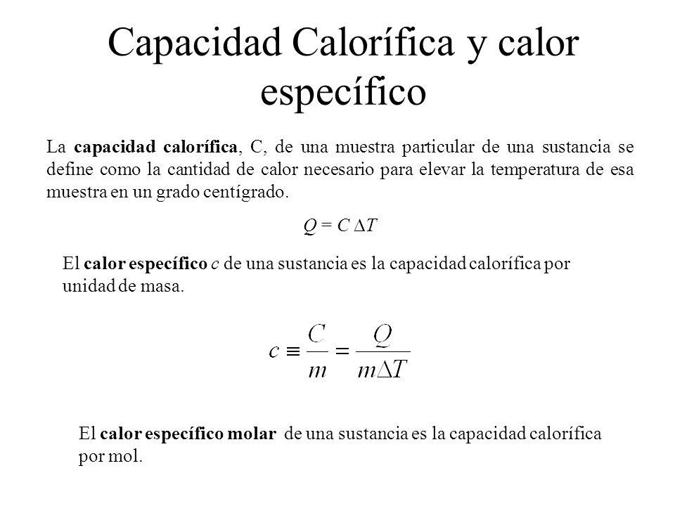 Capacidad Calorífica y calor específico