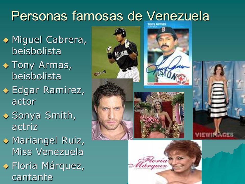 Personas famosas de Venezuela