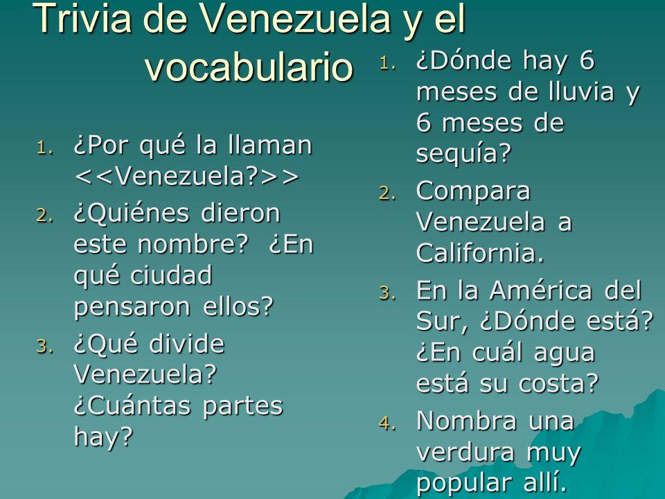 Trivia de Venezuela y el vocabulario