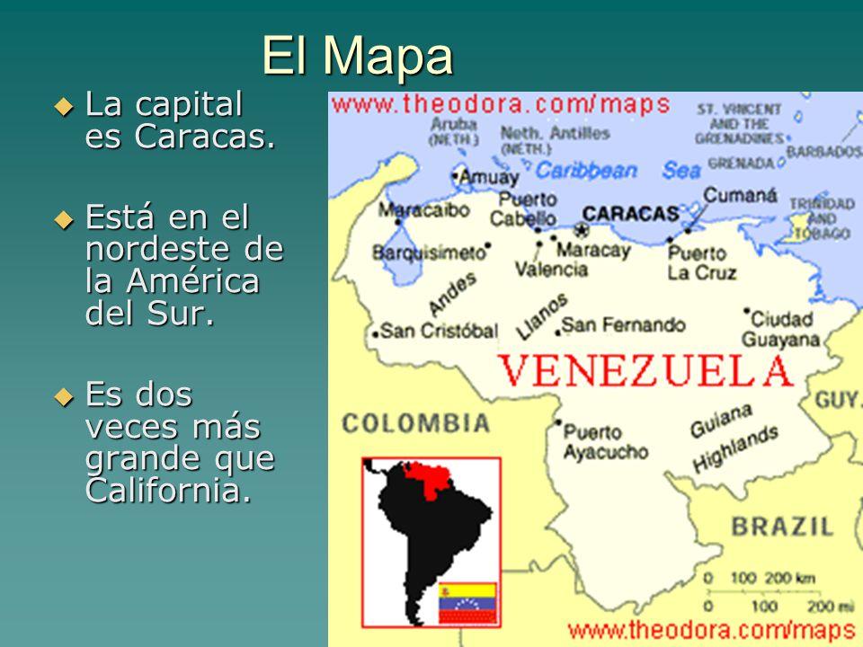 El Mapa La capital es Caracas.