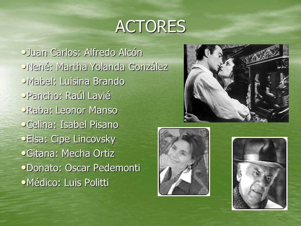 ACTORES Juan Carlos: Alfredo Alcón Nené: Martha Yolanda González