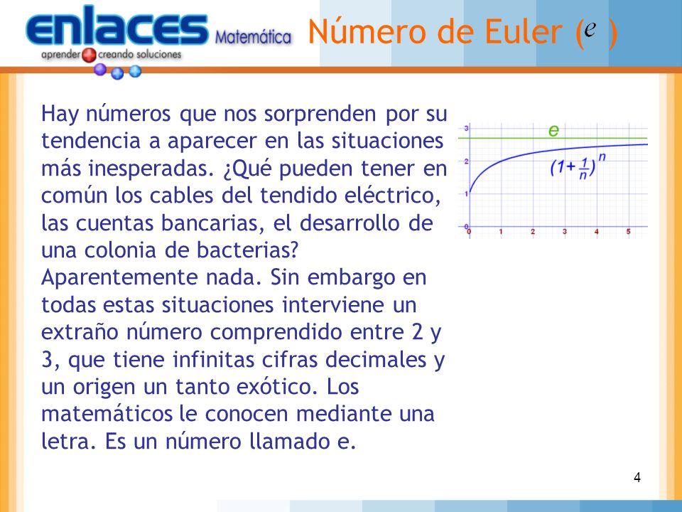 Número de Euler ( )
