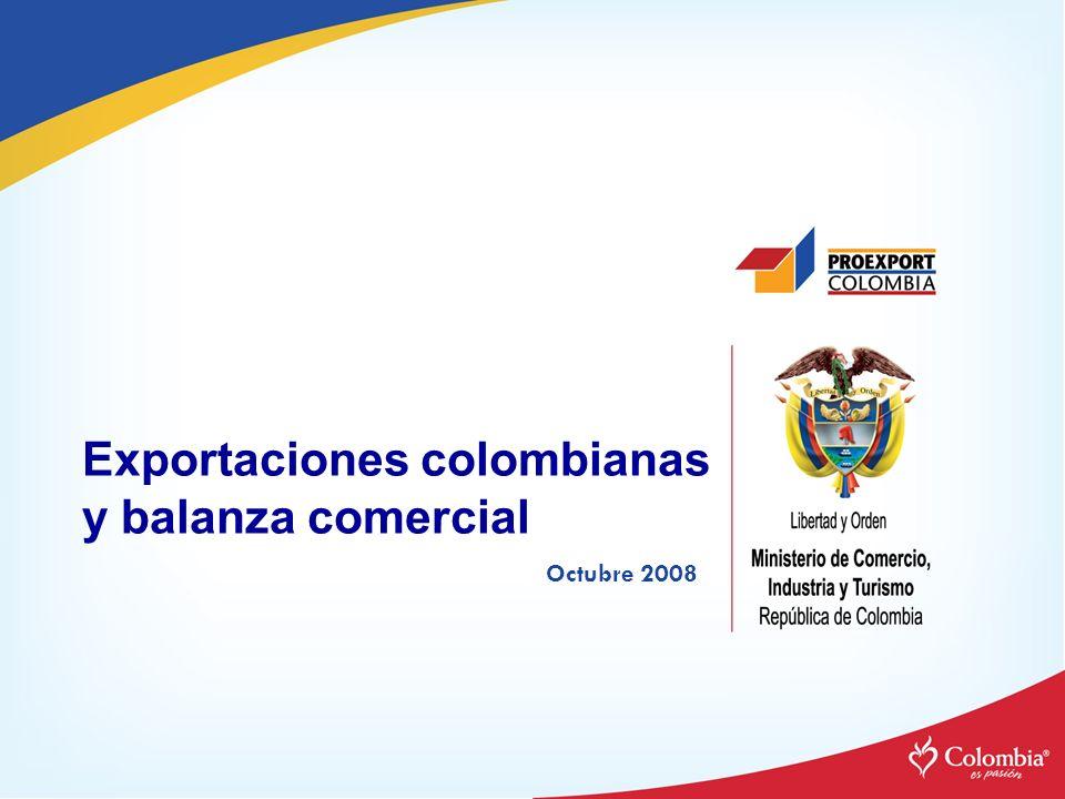 Exportaciones colombianas y balanza comercial