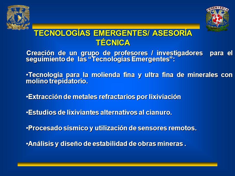 TECNOLOGÍAS EMERGENTES/ ASESORÍA TÉCNICA