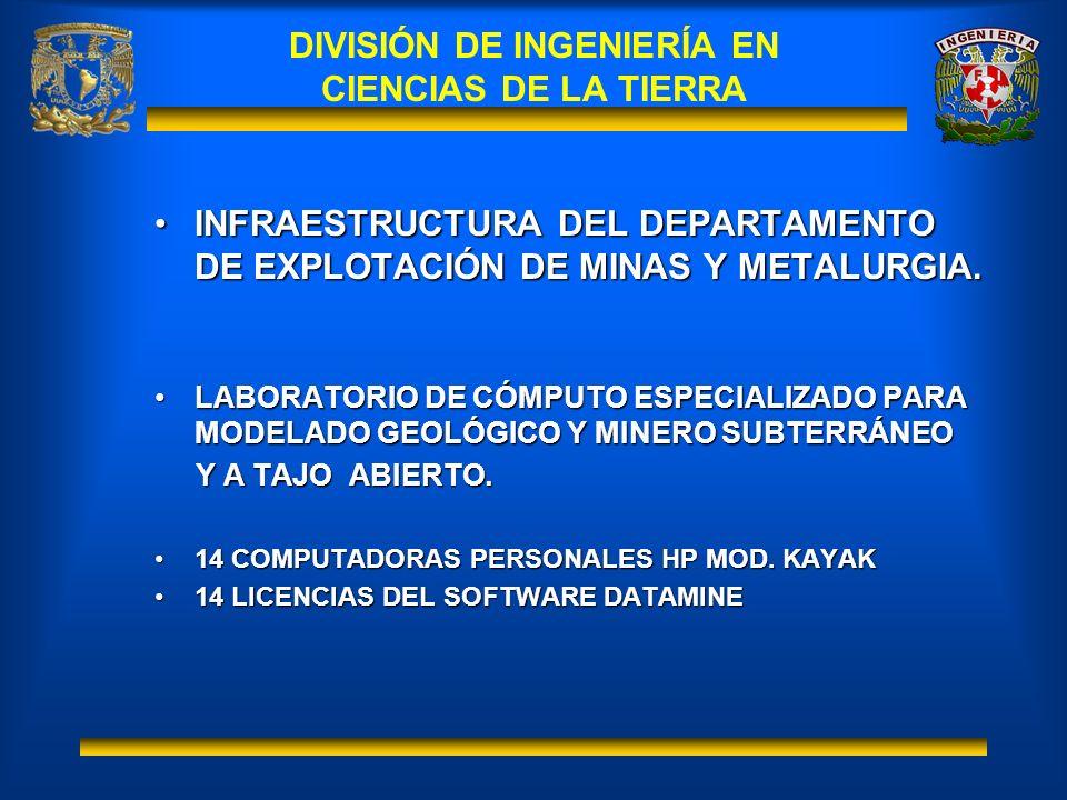 DIVISIÓN DE INGENIERÍA EN CIENCIAS DE LA TIERRA