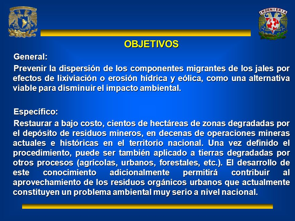 OBJETIVOS General: