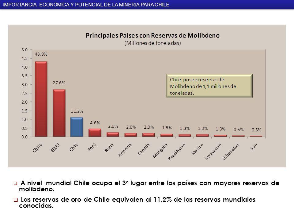 IMPORTANCIA ECONOMICA Y POTENCIAL DE LA MINERIA PARA CHILE