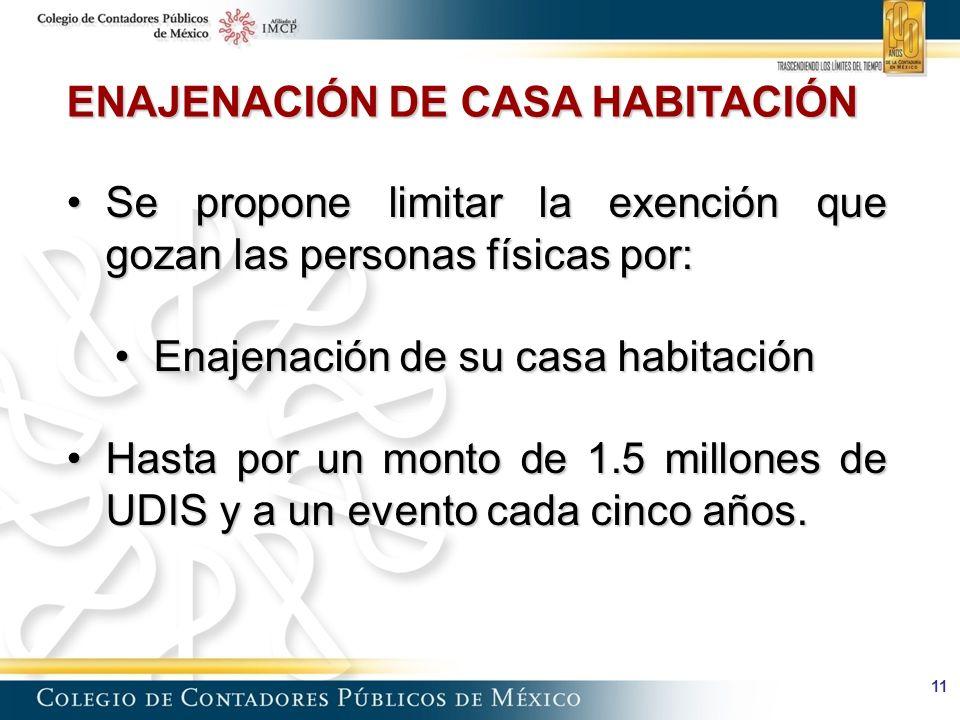 ENAJENACIÓN DE CASA HABITACIÓN