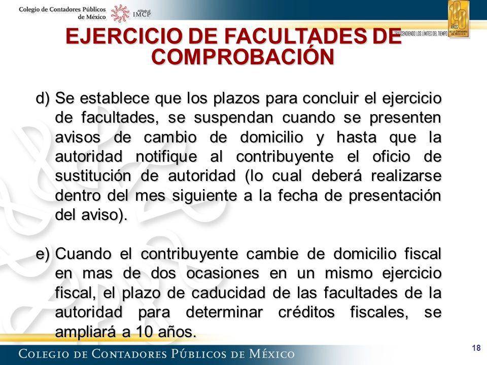 EJERCICIO DE FACULTADES DE COMPROBACIÓN