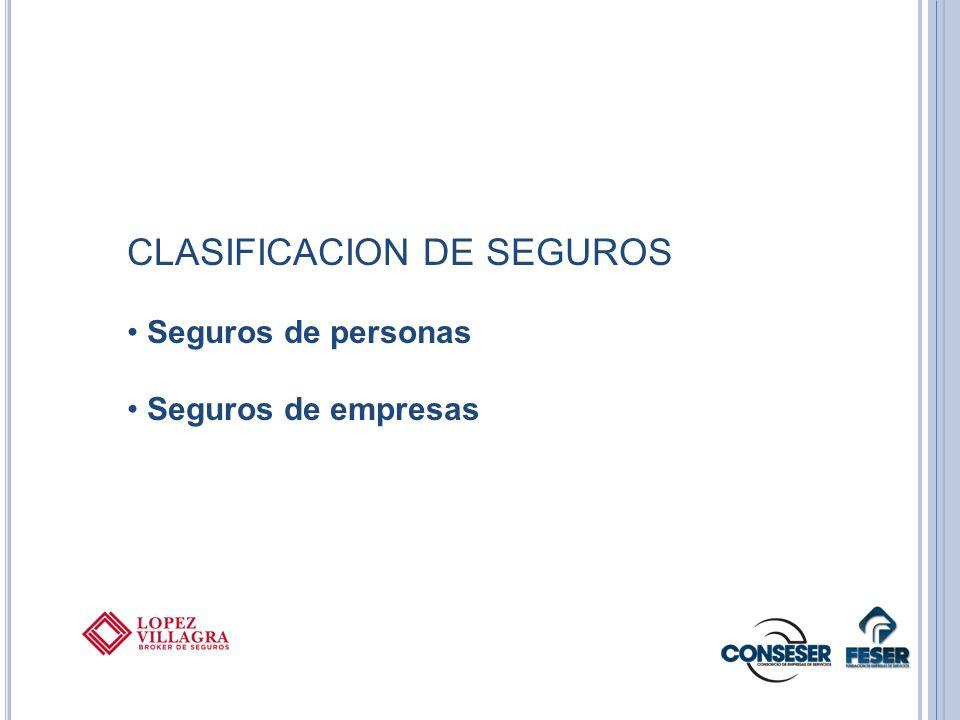 CLASIFICACION DE SEGUROS