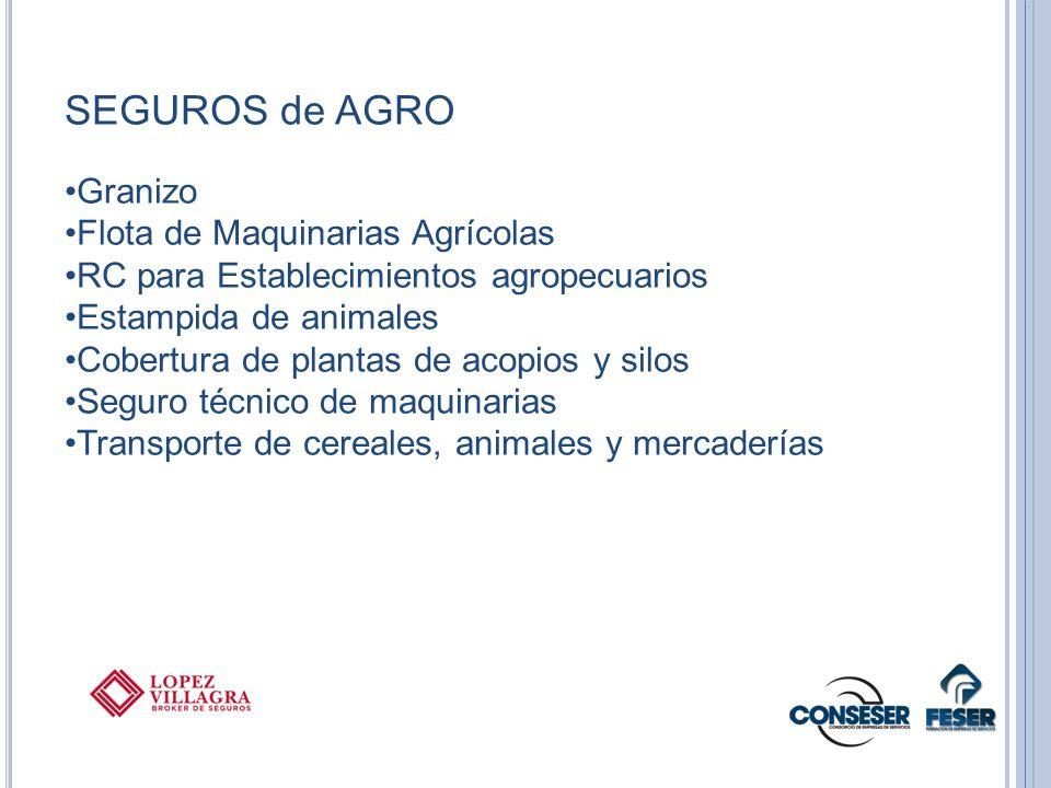 SEGUROS de AGRO Granizo Flota de Maquinarias Agrícolas