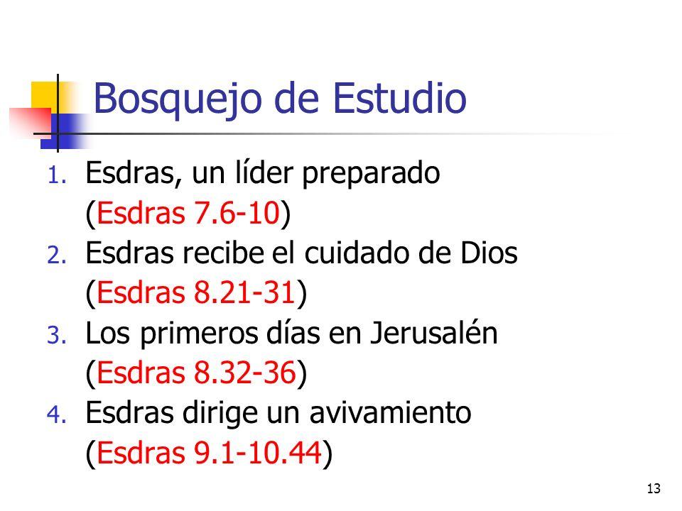 Bosquejo de Estudio Esdras, un líder preparado (Esdras 7.6-10)
