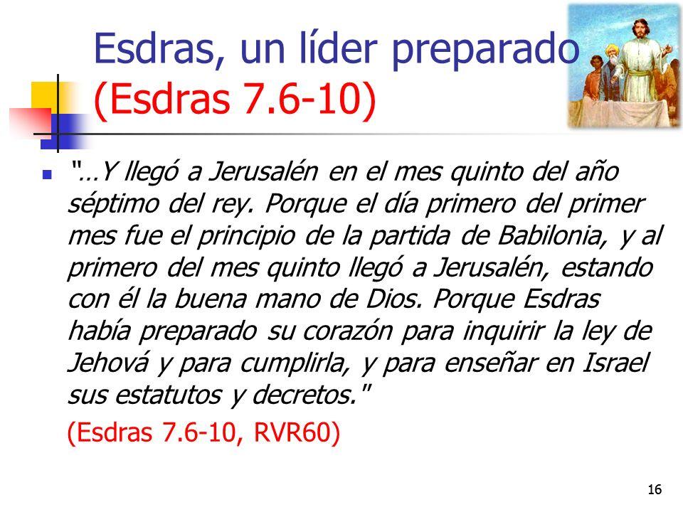Esdras, un líder preparado (Esdras 7.6-10)