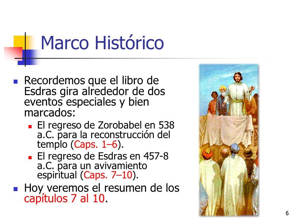 Marco Histórico Recordemos que el libro de Esdras gira alrededor de dos eventos especiales y bien marcados: