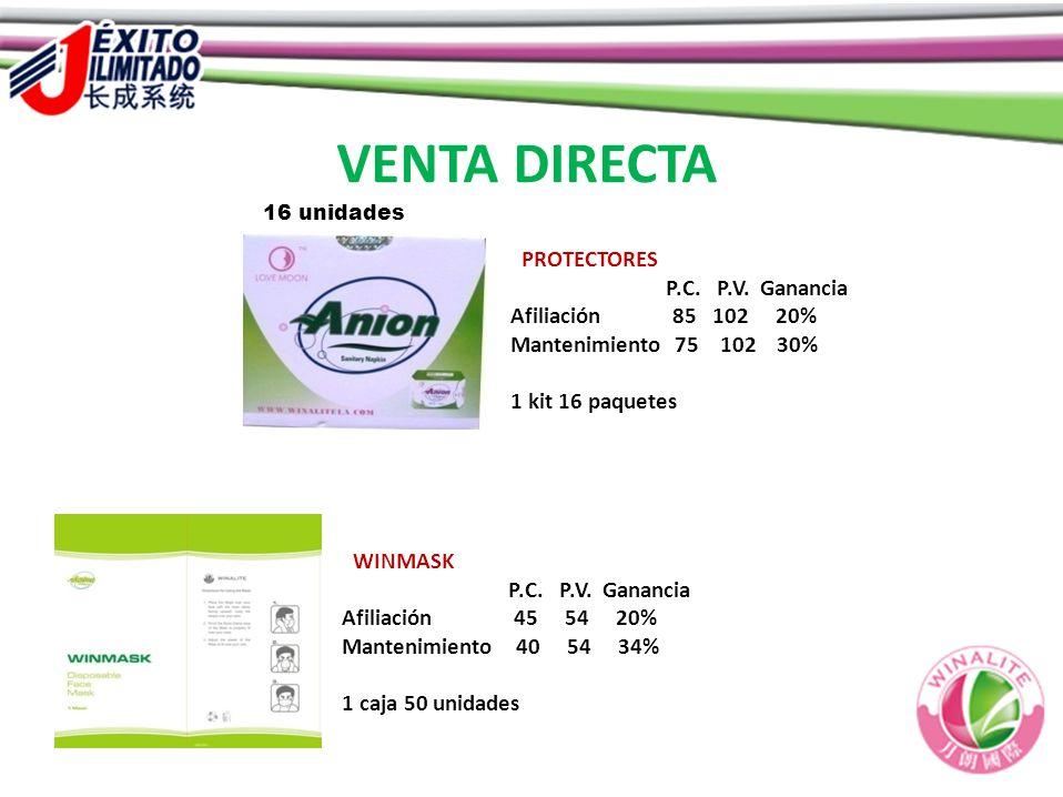 VENTA DIRECTA PROTECTORES P.C. P.V. Ganancia