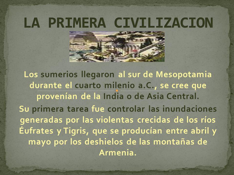LA PRIMERA CIVILIZACION