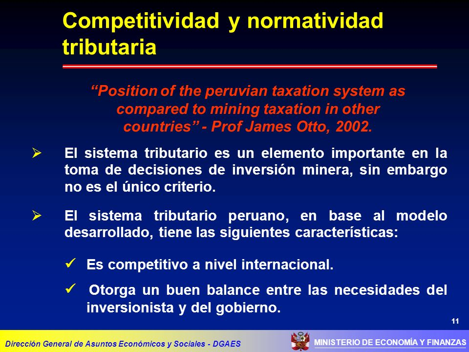 Competitividad y normatividad tributaria