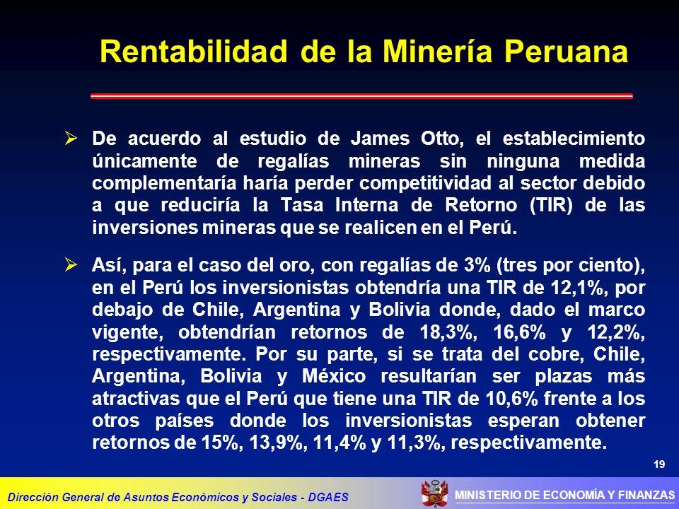 Rentabilidad de la Minería Peruana