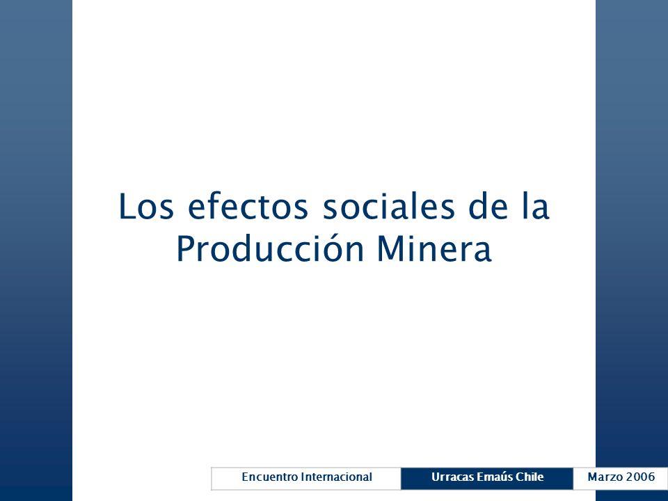 Los efectos sociales de la Producción Minera