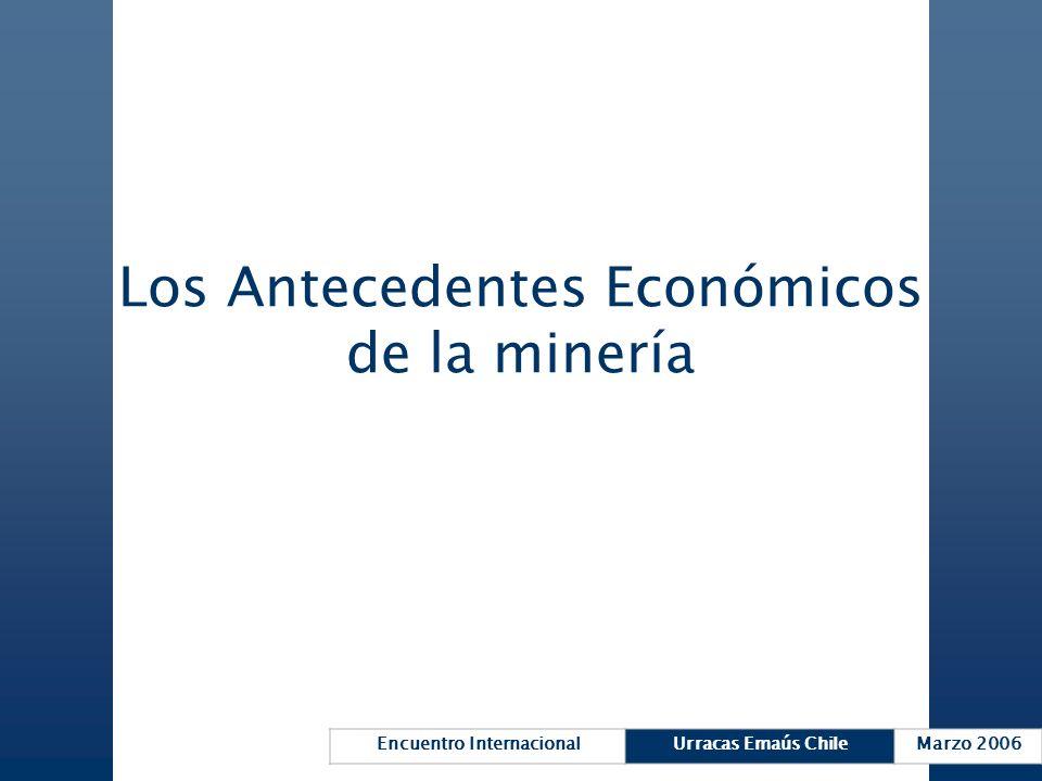 Los Antecedentes Económicos de la minería