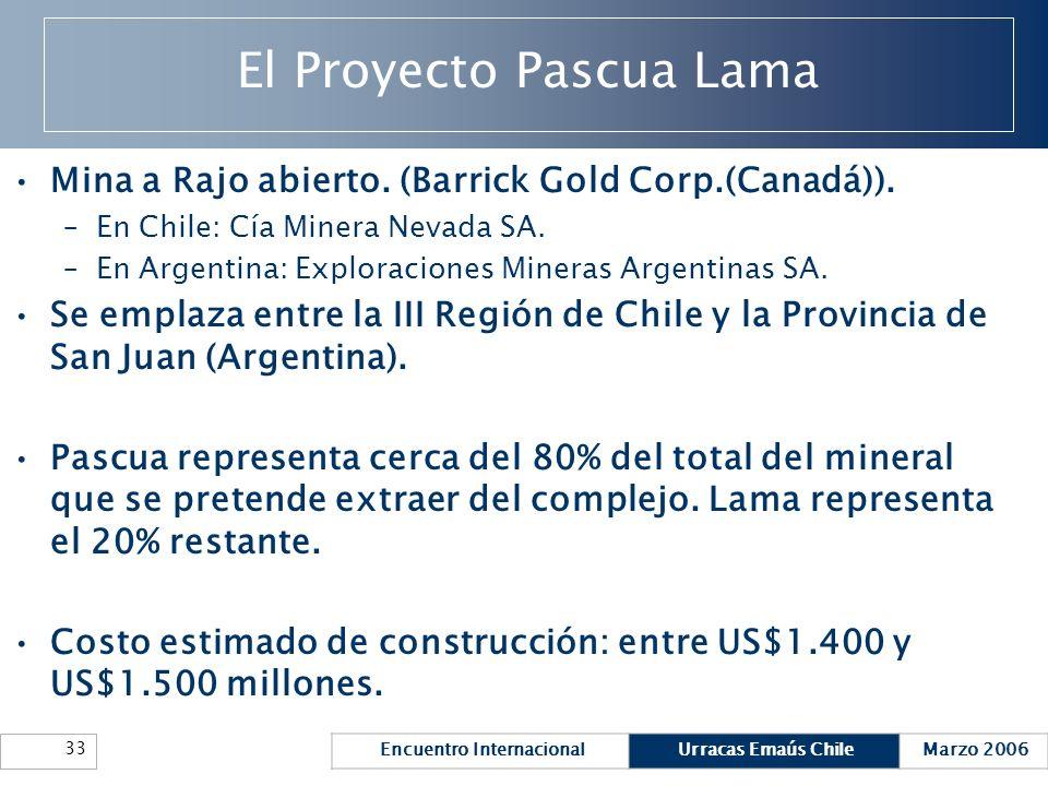 El Proyecto Pascua Lama