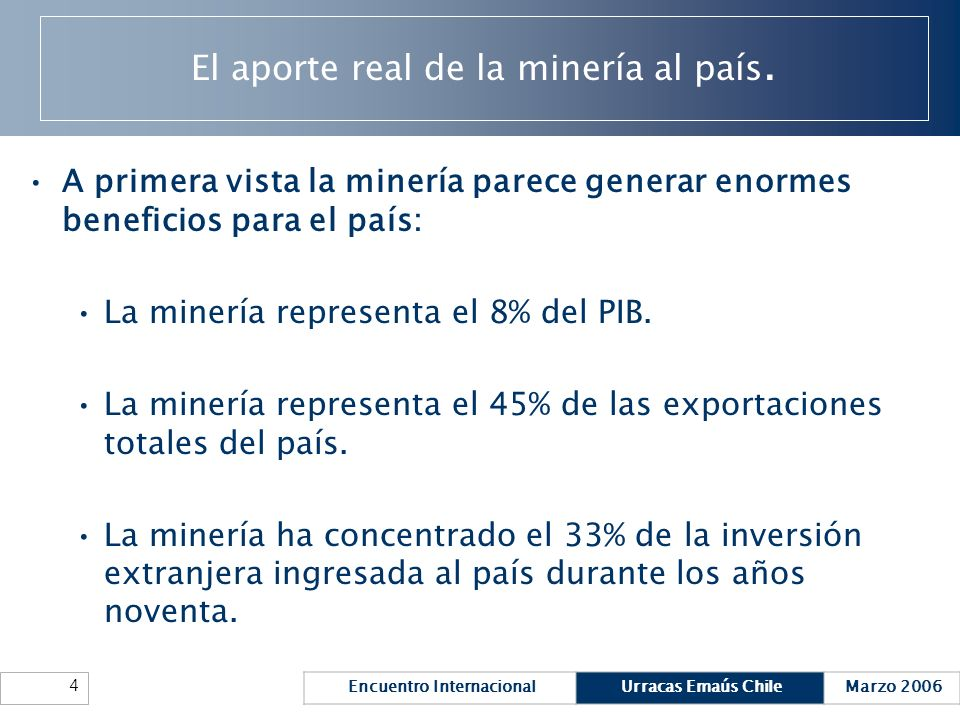 El aporte real de la minería al país.