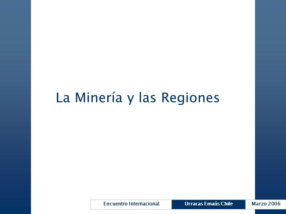 La Minería y las Regiones