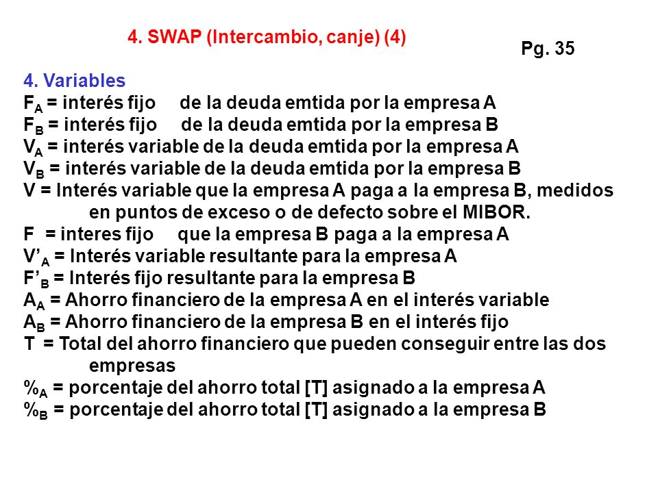 4. SWAP (Intercambio, canje) (4)
