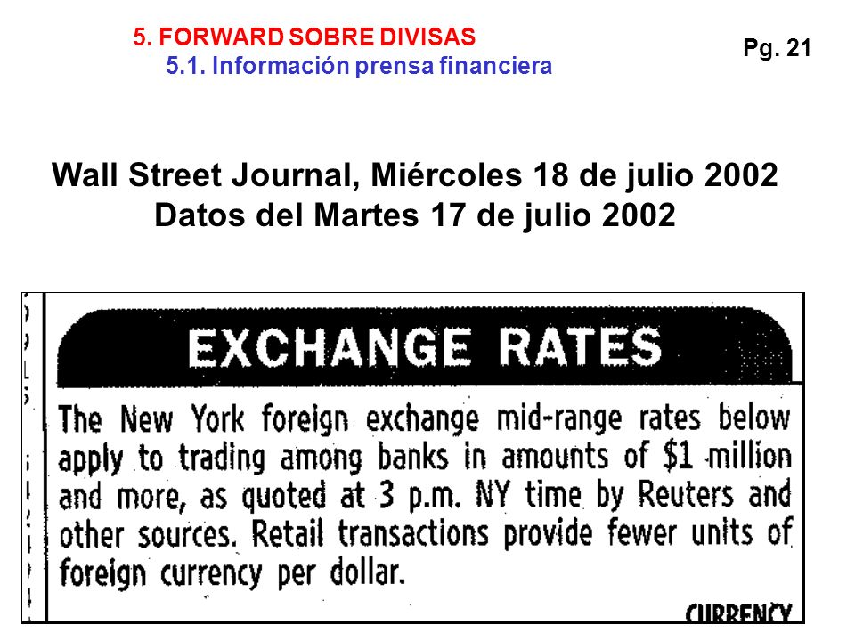 Wall Street Journal, Miércoles 18 de julio 2002