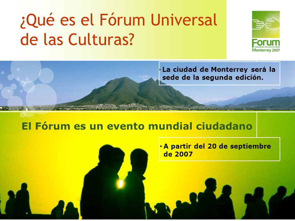 ¿Qué es el Fórum Universal de las Culturas