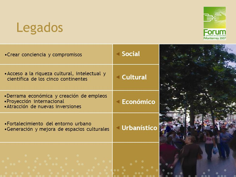 Legados Social Cultural Económico Urbanístico