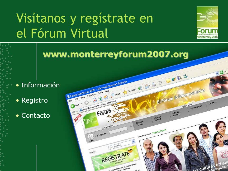 Visítanos y regístrate en el Fórum Virtual