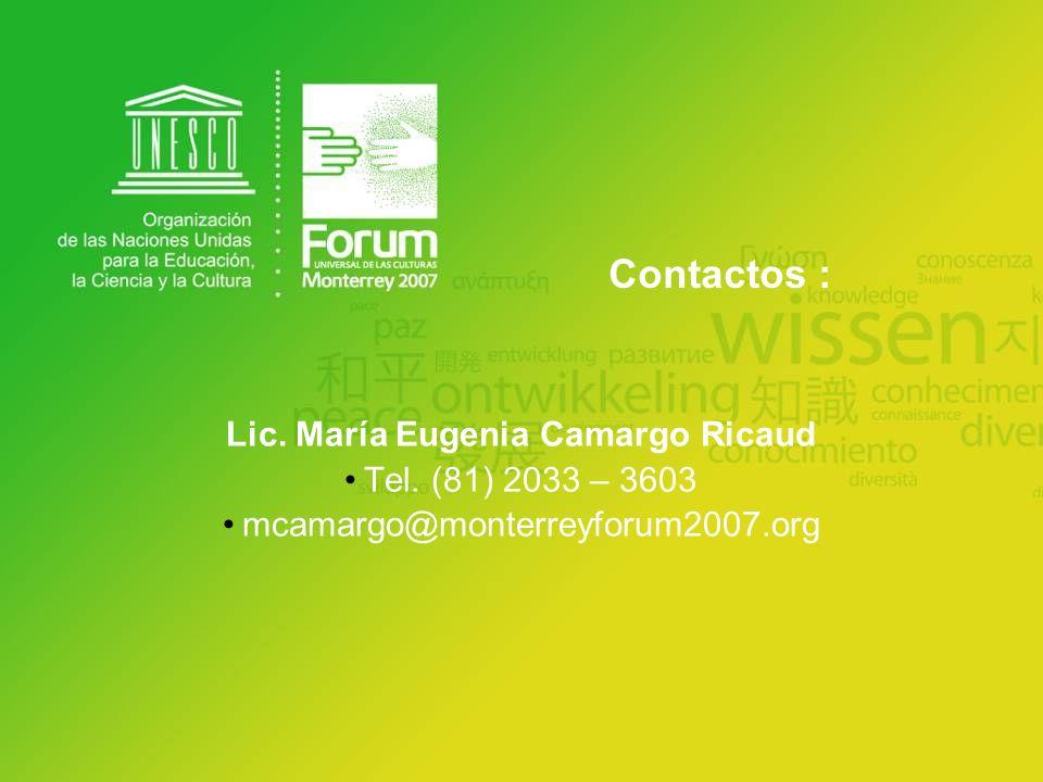 Lic. María Eugenia Camargo Ricaud