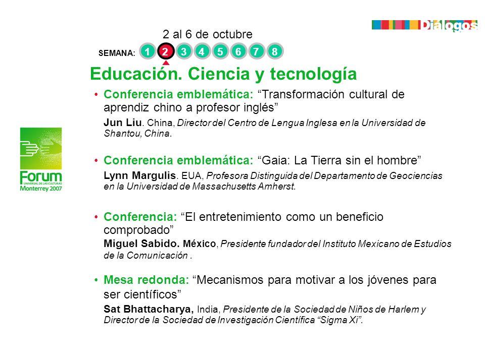 Educación. Ciencia y tecnología