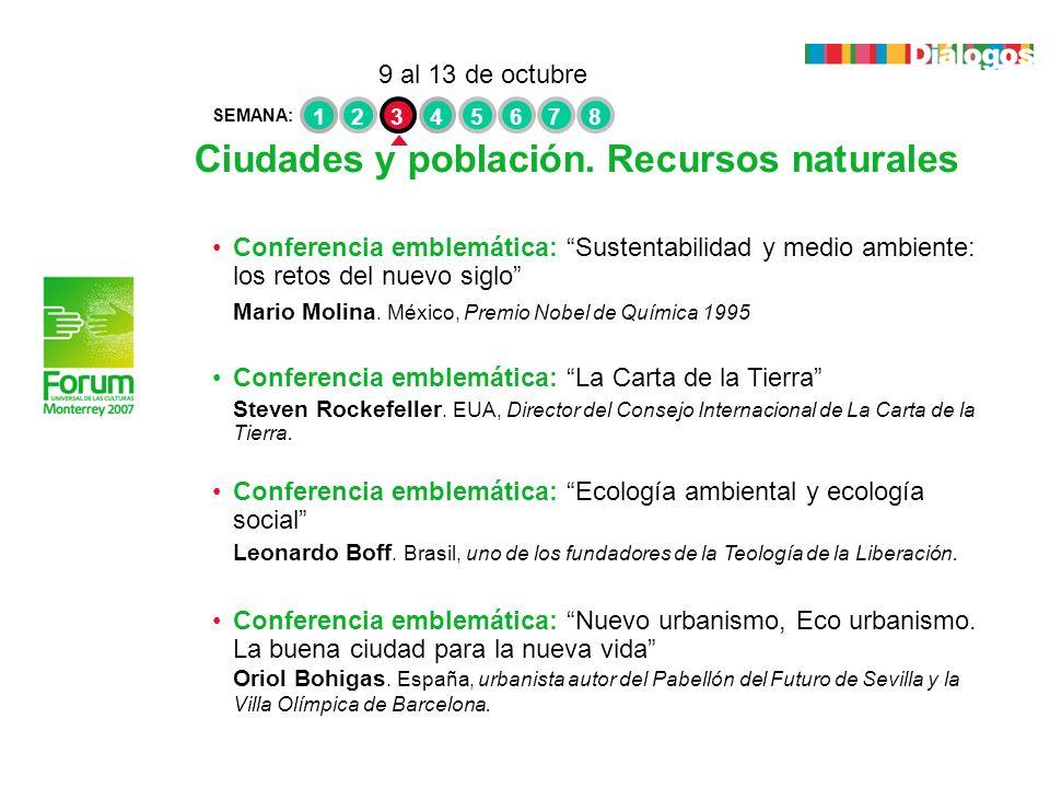 Ciudades y población. Recursos naturales