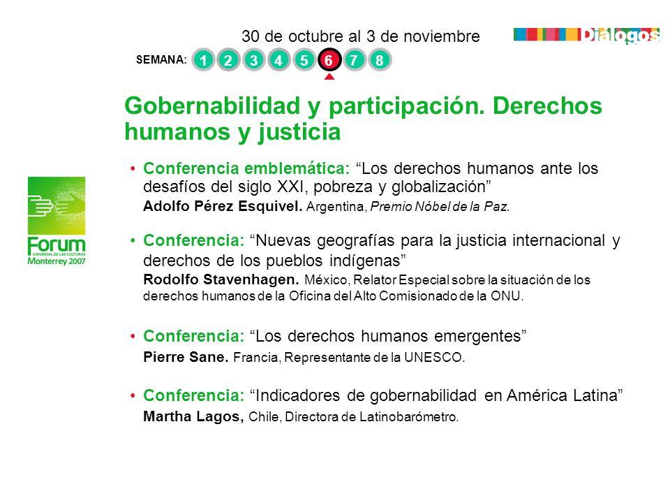 Gobernabilidad y participación. Derechos humanos y justicia