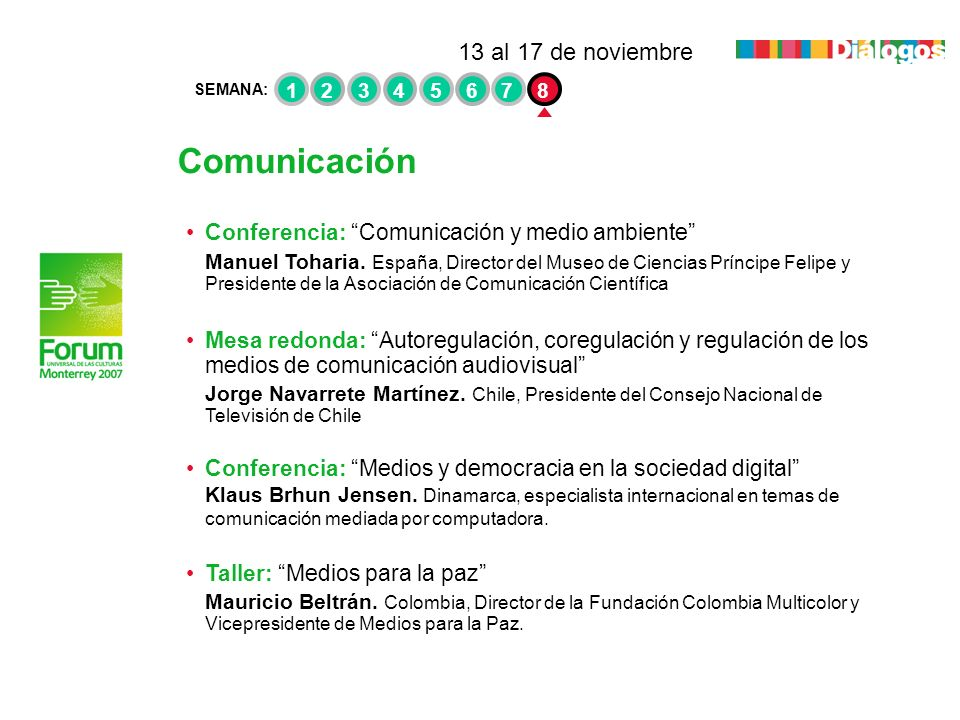 Comunicación 13 al 17 de noviembre