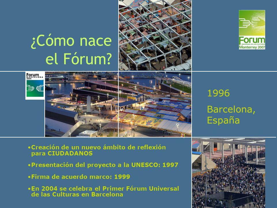 ¿Cómo nace el Fórum 1996 Barcelona, España