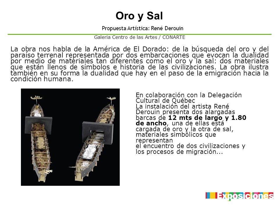 Oro y Sal Propuesta Artística: René Derouin. Galeria Centro de las Artes / CONARTE.