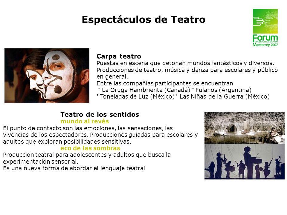 Espectáculos de Teatro
