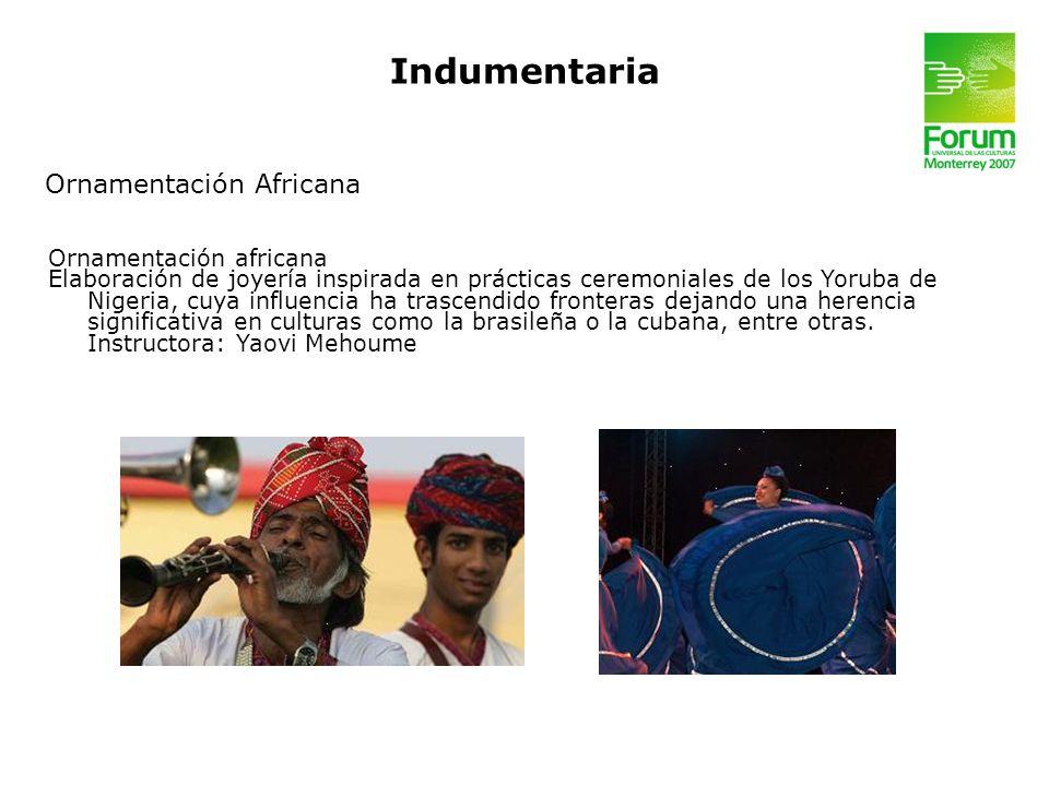 Indumentaria Ornamentación Africana Ornamentación africana