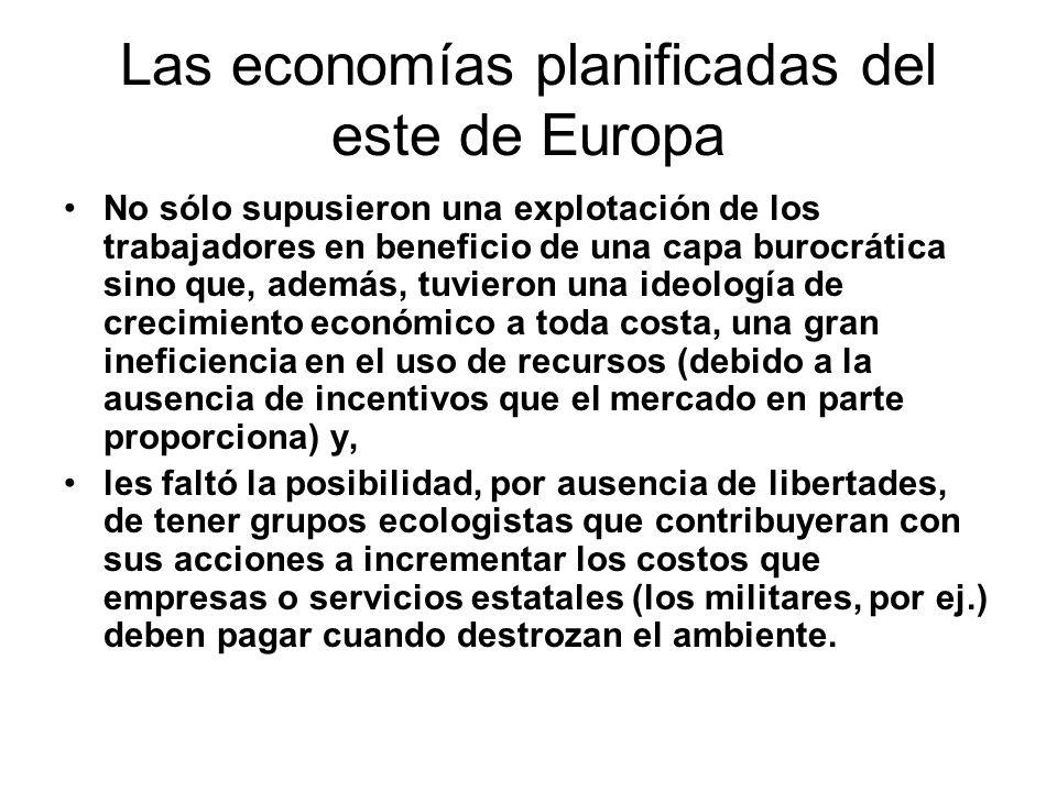Las economías planificadas del este de Europa