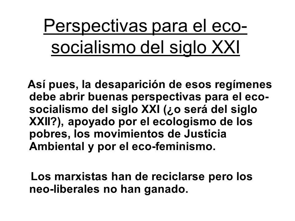 Perspectivas para el eco-socialismo del siglo XXI