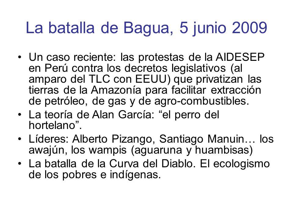 La batalla de Bagua, 5 junio 2009