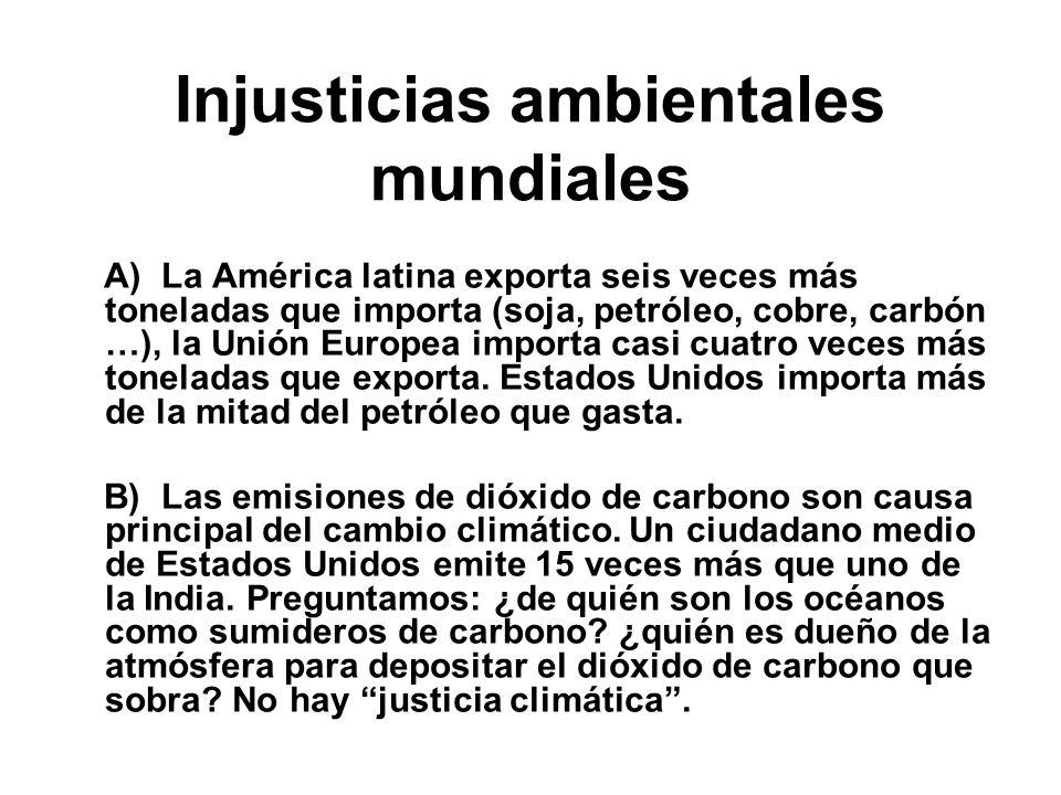 Injusticias ambientales mundiales