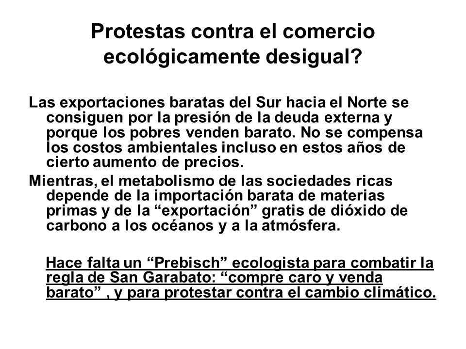 Protestas contra el comercio ecológicamente desigual