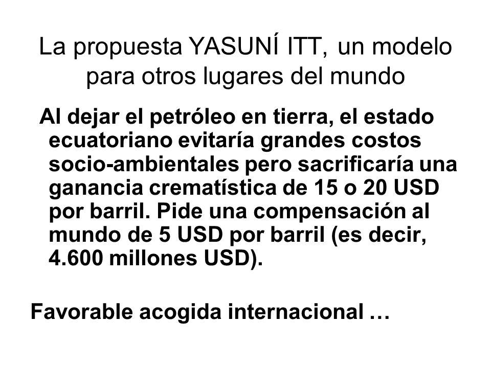 La propuesta YASUNÍ ITT, un modelo para otros lugares del mundo