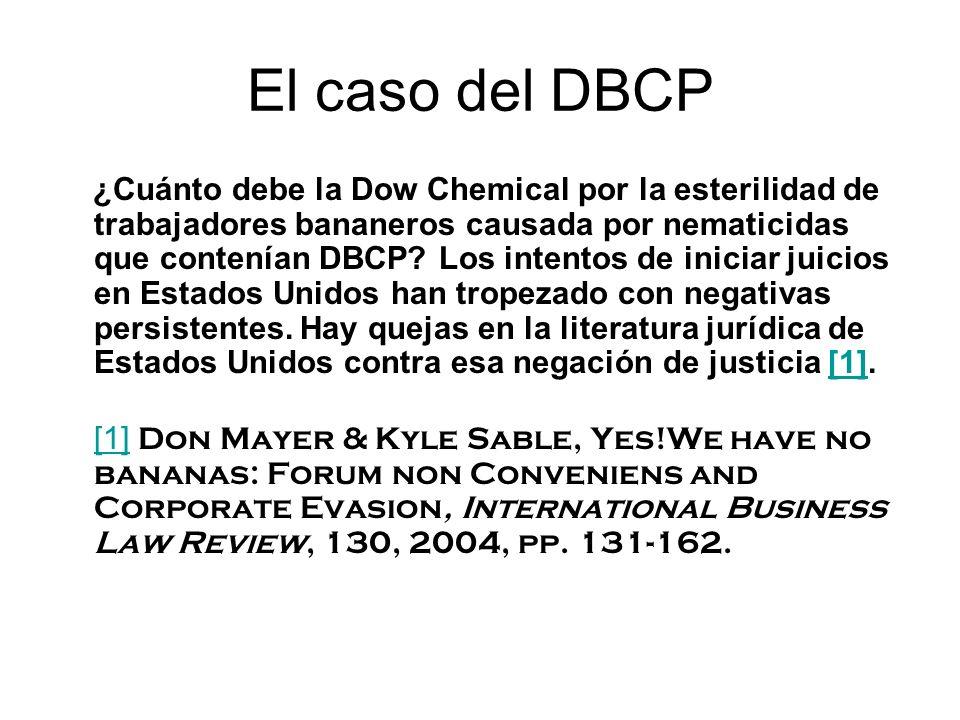 El caso del DBCP