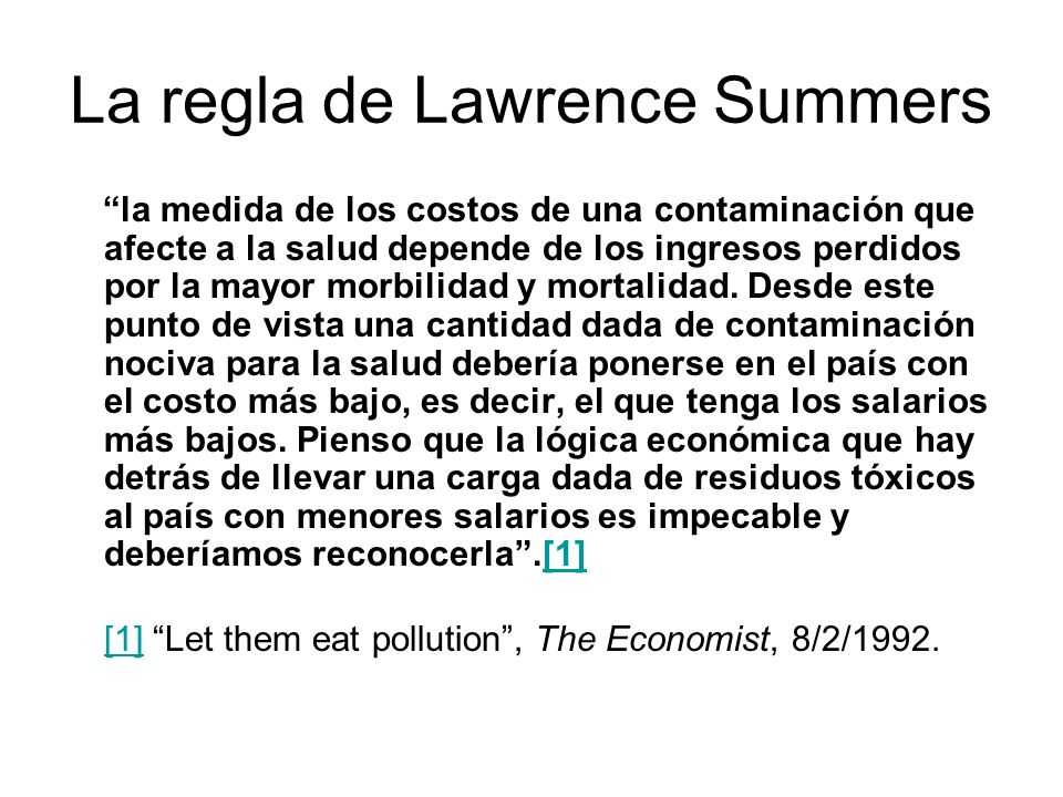 La regla de Lawrence Summers